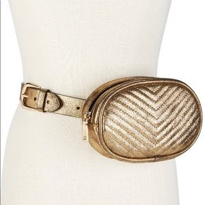 Steve Madden Metallic Quilted Belt Bag